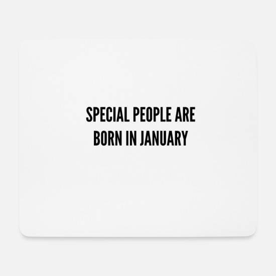 Birthday Mouse Pads - January - Mouse Pad white
