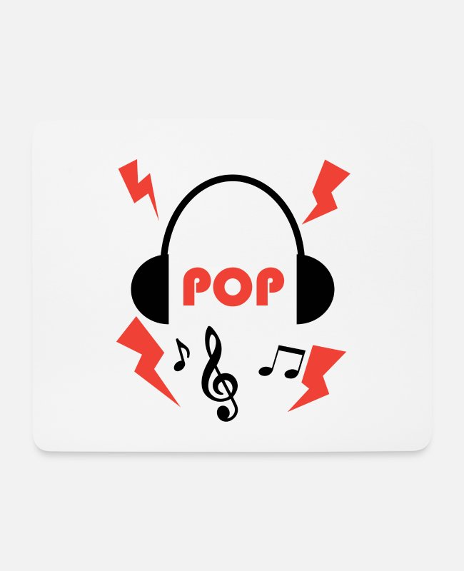 Guitar Mouse Pads - Pop music lovers - Mouse Pad white