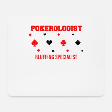 Play Online Poker Card Player Pokerologist Bluffing Funny As - Mouse Pad