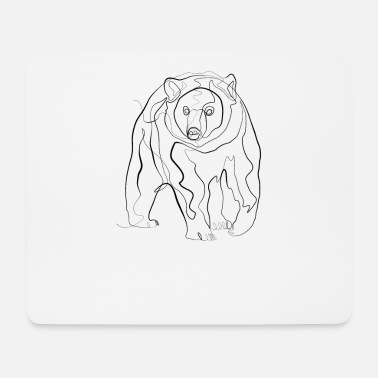 Sweden Grizzly bear - one line drawing - Mouse Pad