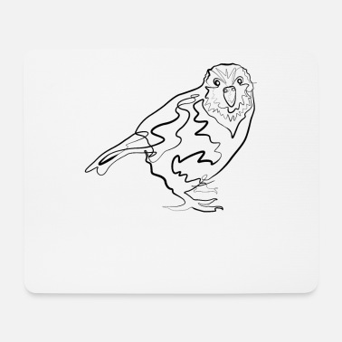 Line Drawing Kakapo Australia - one line drawing - Mouse Pad