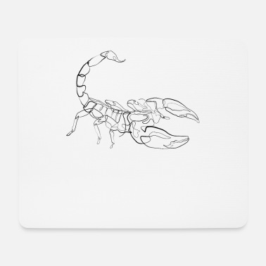Drawing Scorpio - one line drawing - Mouse Pad