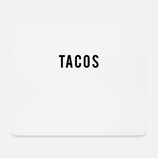 Funny Gym Mouse Pads - Funny Gym Workout product: Gym Now Tacos Later - Mouse Pad white