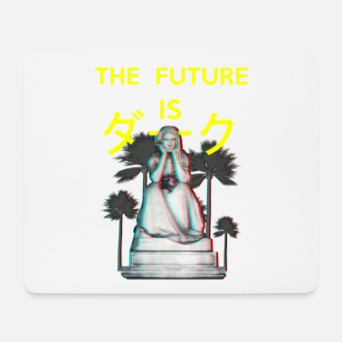 Aesthetic The Future is Dark. Aesthetic Vaporwave gothic - Mouse Pad