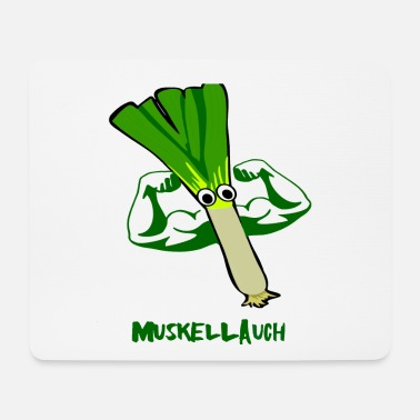 Muscle Muscle Leek Muscles Leek Muscle Muscle Leek Muscle - Mouse Pad