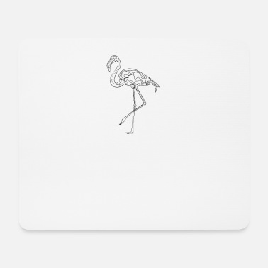 Drawing Flamingo - one line drawing - Mouse Pad