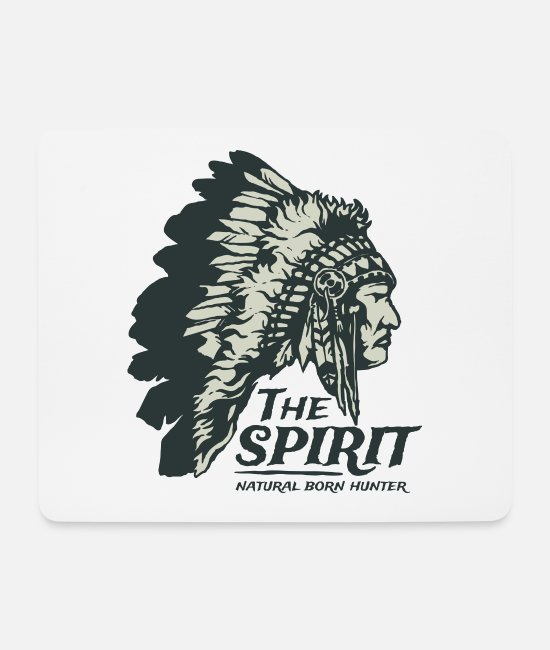 Birthday Mouse Pads - The Spirit Natural Hunter Apache Chief Shirt - Mouse Pad white