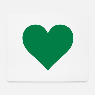 Cuore Green Heart Love - Mousepad