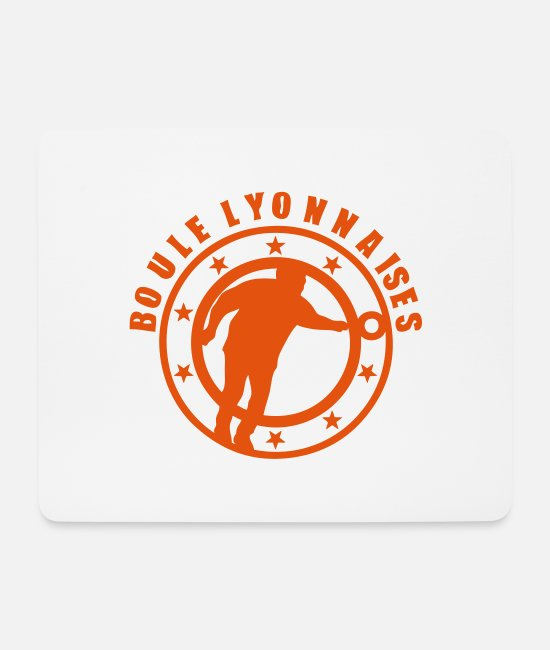 Ball Mouse Pads - Lyon player shooter ball club logo - Mouse Pad white