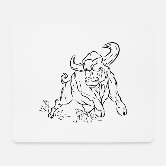 Bullfighting Mouse Pads - Bull - Mouse Pad white