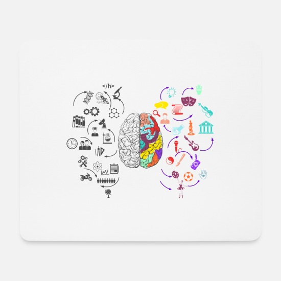 Social Mouse Pads - Brain - Mouse Pad white