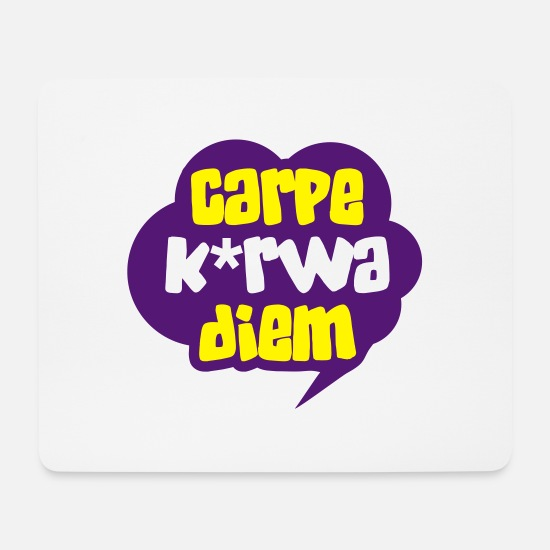 Seize The Day Mouse Pads - Carpe k * rwa diem - Mouse Pad white