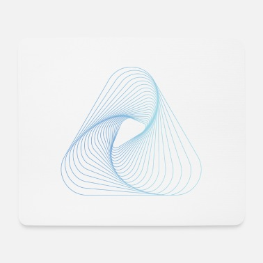 Optical Illusion Optical illusion pattern shapes geometry gift - Mouse Pad