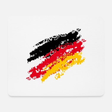 Thuringia Germany flag - color stripes - CHALK - Mouse Pad