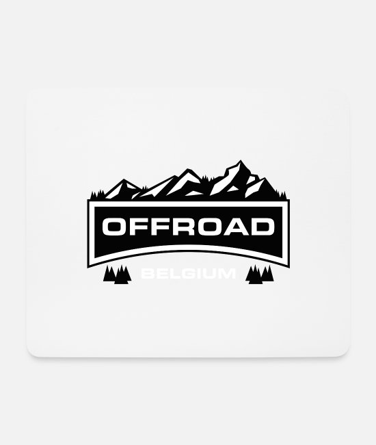 Offroad Vehicles Mouse Pads - Offroad Belgium - Mouse Pad white