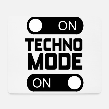 Techno Music Techno Fashion Birthday Gift Music Rave Party - Mouse Pad