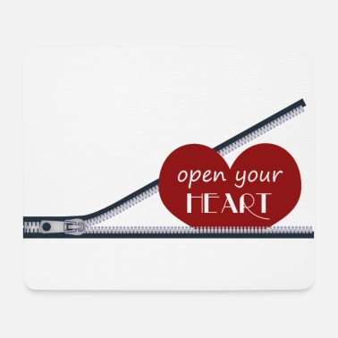 Serce open your heart, open your heart - Mouse Pad