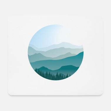 Landscape in cartoon style - landscape - Mouse Pad