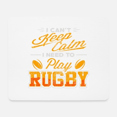Two rotating rugby balls - rugby - Mouse Pad