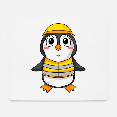 House Building Topping out penguin house building house building gift - Mouse Pad