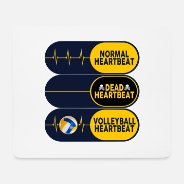volleyball heartbeat dead normal humor sport ball - Mouse Pad (horizontal)