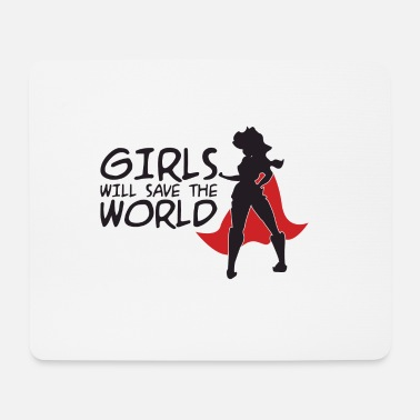 Supergirl Power woman power - Mouse Pad