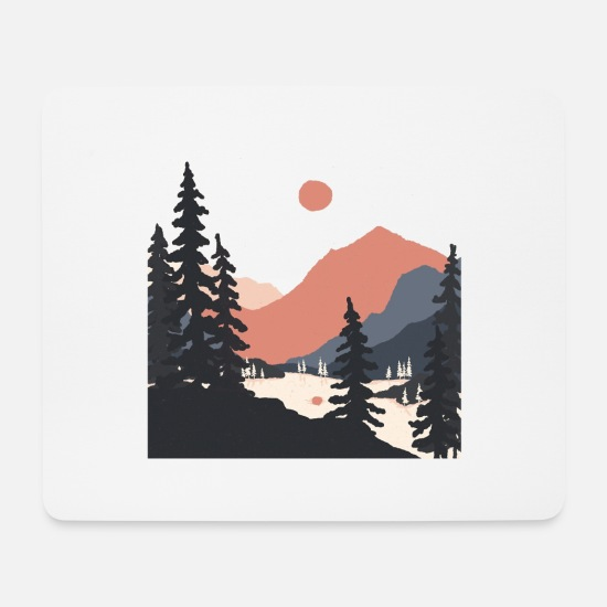 Nature Mouse Pads - The Geometry of Sunrise - Mouse Pad white