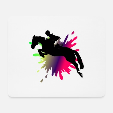 Equestrian Wheel HORSE JUMPING - equestrian - Mouse Pad
