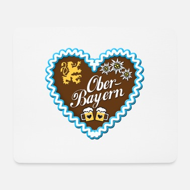Upper Bavaria Gingerbread heart of Upper Bavaria blue lion - Mouse Pad