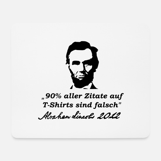 Lincoln Mouse Pads - Quotes - Mouse Pad white
