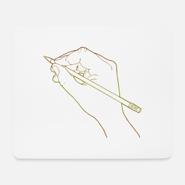 Drawing Draw Drawing Human Hand Drawing Line Drawing - Mouse Pad