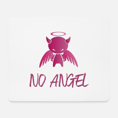 Hell No Angel Halo - Mouse Pad