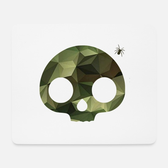 New Mouse Pads - Skull camouflage pattern - Mouse Pad white