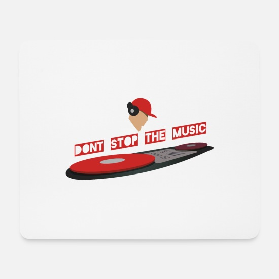 New Age Mousepads  - Dont Stop - Mousepad Weiß