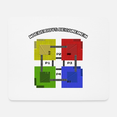 Game Over Gamer Retro Gaming Game Videogames Old School - Mousepad (Querformat)