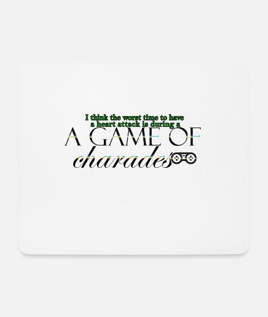 Pro Gamer Mouse Pads - Game of Charades 53 G - Mouse Pad white