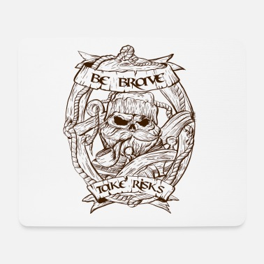 Navy Fisherman scull design - Mousepad (Querformat)