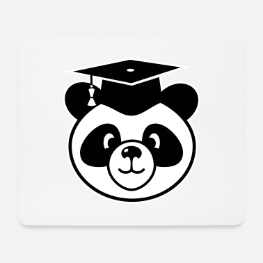 State Exam Panda with mortarboard - doctorate, state exam - Mouse Pad