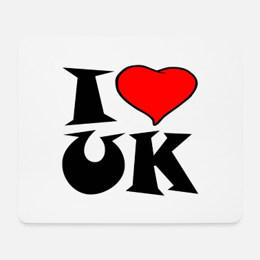 Uk Uk - I love UK - i love UK - Mouse Pad