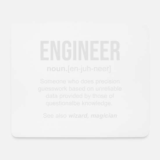 Civil Engineering Technician Mouse Pads - Definition of engineer funny gift - Mouse Pad white