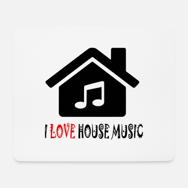 House House Music House Party Shirt - Mousepad (bredformat)