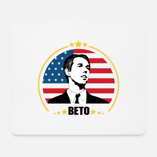 American Mouse Pads - Beto American Vote - Mouse Pad white