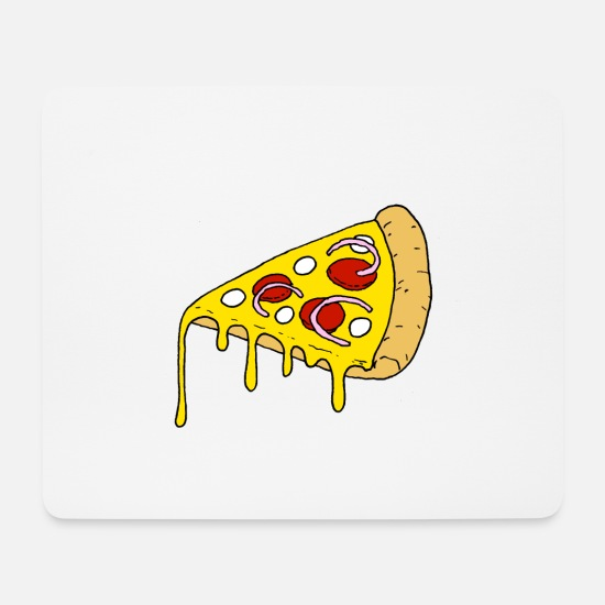 Fast Food Mouse Pads - PIZZA - Mouse Pad white