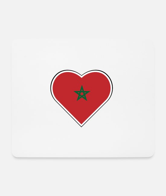 Proud Mouse Pads - My heart beats for Morocco - Mouse Pad white