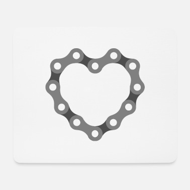 Bicycle chain as a heart - Mouse Pad