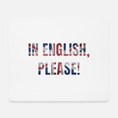 Intensified Course English teacher saying english school gift - Mouse Pad