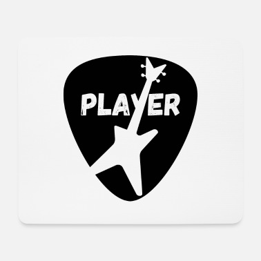 Bass Player T-Shirt with plectrum and bass guitar - Mouse Pad