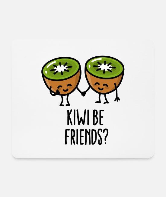 Kiwi Be Friends Bff Kawaii Mignonne Couple Amour Tapis De Souris Spreadshirt