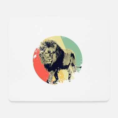 Animal Welfare Lion retro - Mouse Pad