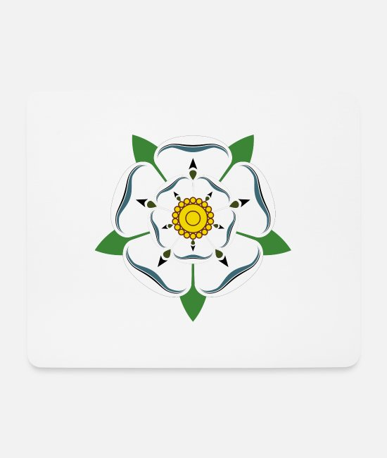 Yorkshire Mouse Pads - Yorkshire Superpower T-shirt - Mouse Pad white